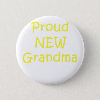 Proud New Grandma Pinback Button