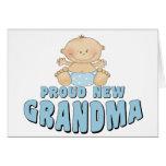 PROUD NEW Grandma T-Shirt Cards