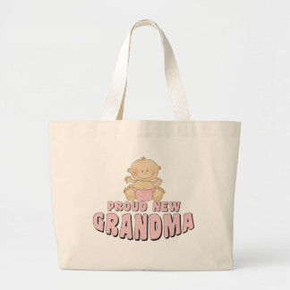PROUD NEW Grandma T-Shirt Jumbo Tote Bag
