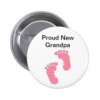 Proud New Grandpa Button