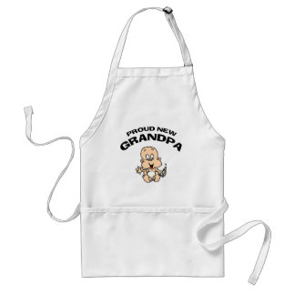 Proud New Grandpa Gift Adult Apron