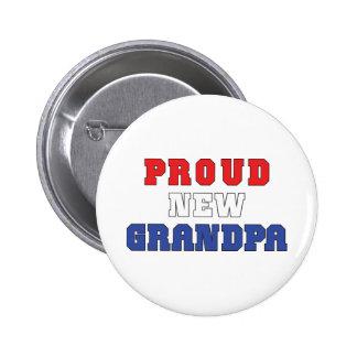 Proud New Grandpa Gift 2 Inch Round Button