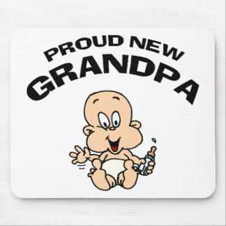 Proud New Grandpa Gift Mouse Pad