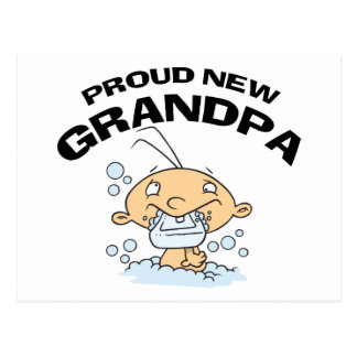 Proud New Grandpa Gift Postcards