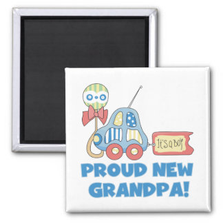 Proud New Grandpa It s a Boy TShirts and Gifts Refrigerator Magnets