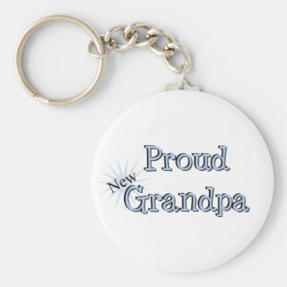 Proud New Grandpa Key Chain