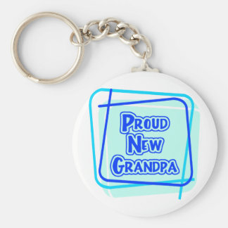 Proud New Grandpa Keychain
