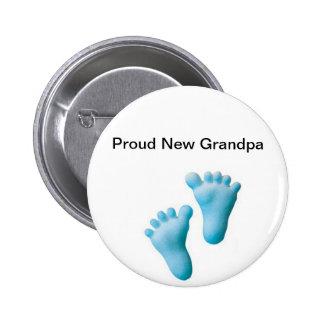 Proud New Grandpa Pinback Button