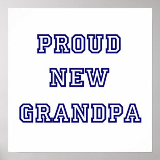 Proud New Grandpa University Text Gifts Poster