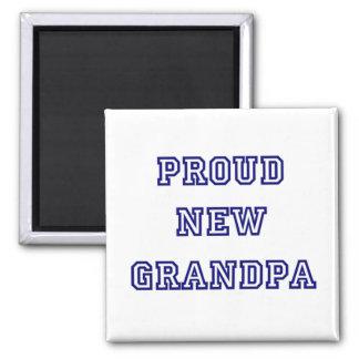 Proud New Grandpa-University Text Tshirts Refrigerator Magnet