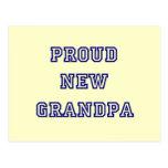 Proud New Grandpa-University Text Tshirts Post Cards