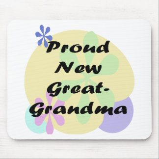 Proud New Great Grandma Mouse Pad