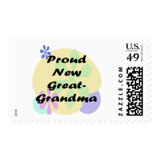 Proud New Great Grandma Postage Stamp