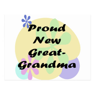 Proud New Great Grandma Postcard