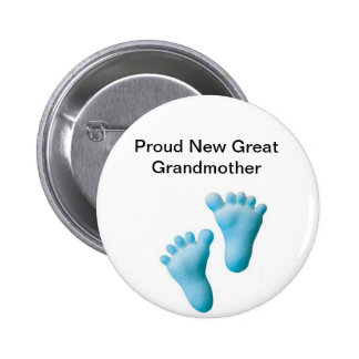 Proud New Great Grandmother Button