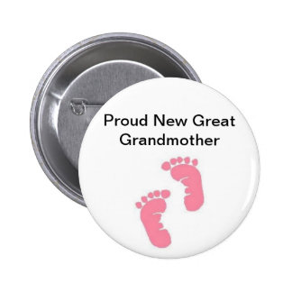 Proud New Great Grandmother Pinback Button