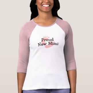 Proud New Mimi Baby Girl Footprints T-shirt