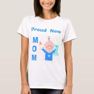 Proud New Mom (Baby Boy)  T-Shirt
