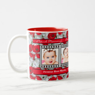 Proud New Mommy 4 Photo Mug Red Poppies