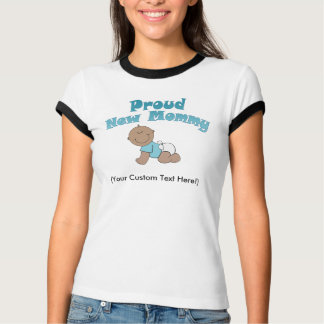 Proud New Mommy, New Mom African-American T-Shirt