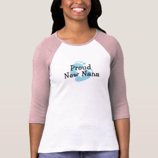 Proud New Nana Baby Boy Footprints Shirt