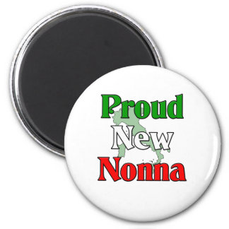 Proud New Nonna 2 Inch Round Magnet