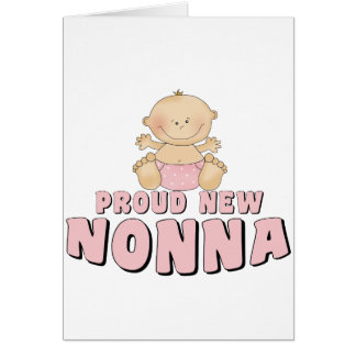 PROUD NEW Nonna T-Shirt Greeting Card