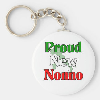 Proud New Nonno (Italian Grandfather) Basic Round Button Keychain