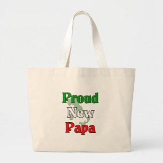 Proud New Papa Tote Bag