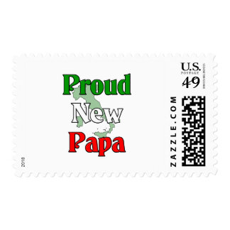 Proud New Papa Postage Stamps