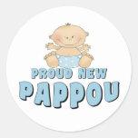 PROUD NEW Pappou Boy Sticker