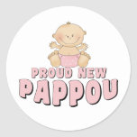 PROUD NEW Pappou Girl Sticker