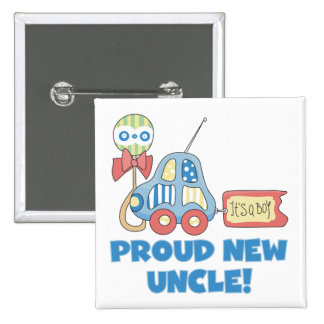 Proud New Uncle It's a Boy Tshirts and Gifts 2 Inch Square Button