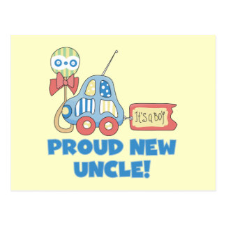 Proud New Uncle It's a Boy Tshirts and Gifts Postcard