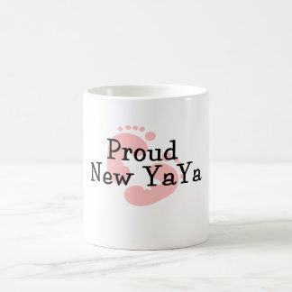 Proud New Yaya Baby Girl Footprints Classic White Coffee Mug