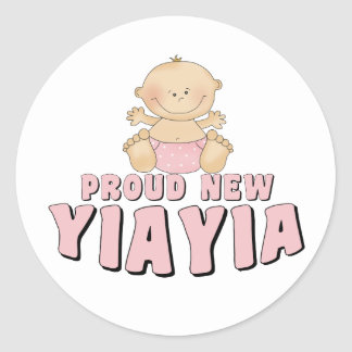 PROUD NEW YiaYia T-Shirt Stickers