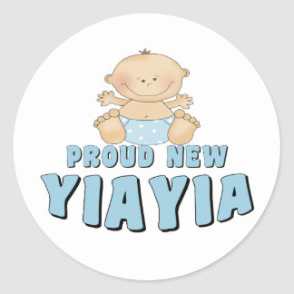 PROUD NEW YiaYia T-Shirt Round Stickers