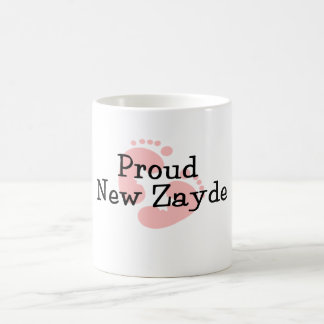 Proud New Zayde Baby Girl Footprints Coffee Mug