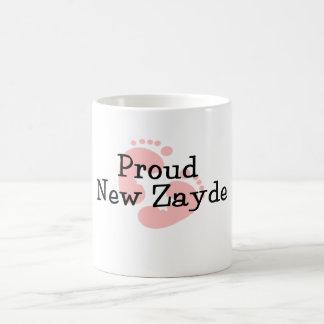 Proud New Zayde Baby Girl Footprints Classic White Coffee Mug