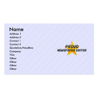 Proud Newspaper Editor Business Cards