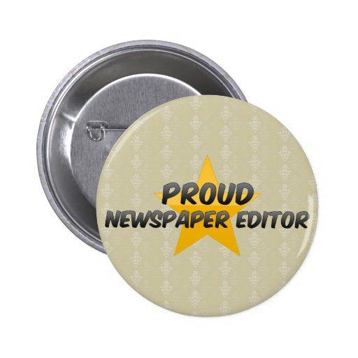 Proud Newspaper Editor Button