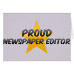 Proud Newspaper Editor Greeting Cards