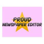 Proud Newspaper Editor Post Card
