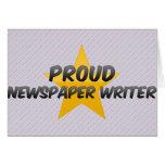 Proud Newspaper Writer Greeting Card