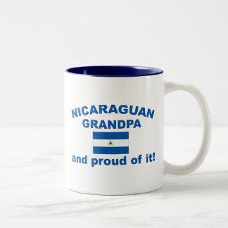 Proud Nicaraguan Grandpa Two-Tone Coffee Mug