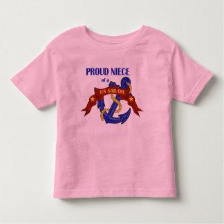 Proud Niece of a US Sailor Toddler T-shirt