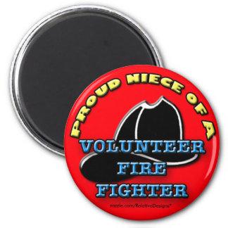 Proud Niece of a Volunteer Firefighter magnet