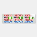Proud Nigerian American Bumper Stickers