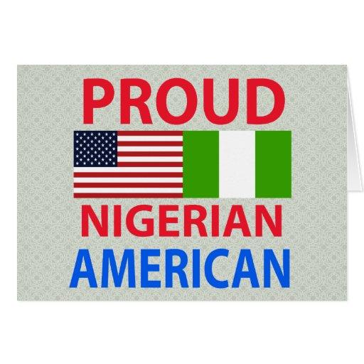 Proud Nigerian American Greeting Card