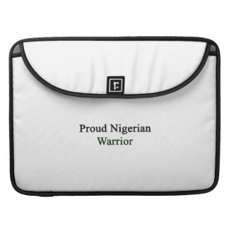 Proud Nigerian Warrior Sleeve For MacBooks